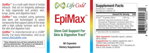 EpiMax Label
