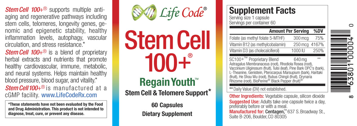 Stem Cell 100 Powerful Rejuvenation And Anti Aging Supplements