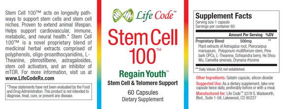 Stem Cell 100 Label